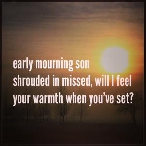 Dementia Journeys Haiku: Early Mourning son