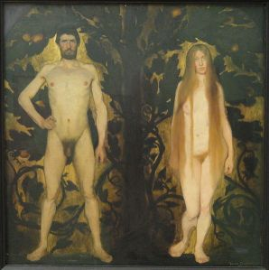 596px-Adam_and_Eve_by_Harald_Slott-Moller_-_Statens_Museum_for_Kunst_-_DSC08287