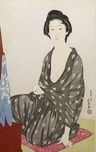 380px-Hashiguchi_Goyo_-_Woman_in_a_Summer_Kimono_-_Walters_95878
