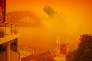 Sydney Red Dust Storm By Alpha