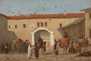 Richard_Dadd_-_Caravanserai_at_Mylasa_in_Asia_Minor_-_Google_Art_Project